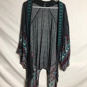 Multi colored kimono